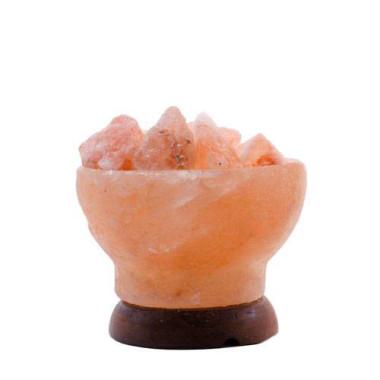 """Veioză / lampă de sare HIMALAYA  """"Bol cu jar"""" 2-3kg"""