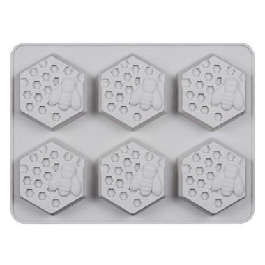 Formă de silicon fagure de miere -6 bucăti