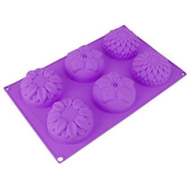 Formă silicon 6buc - Floricele