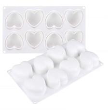 Formă de silicon inimioare 8 cavități