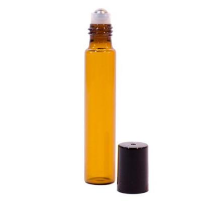 Sticluță Brună cu Roll-on de 10 ml subțire