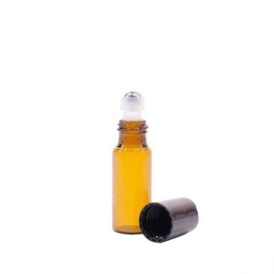 Sticluță Brună cu Roll-on de 5 ml subțire