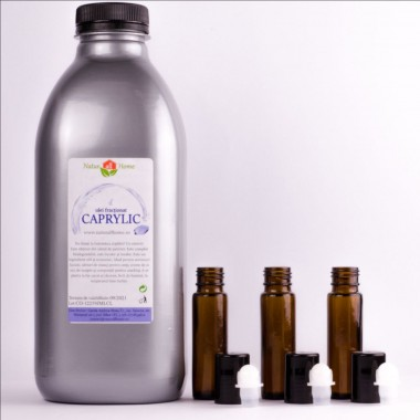 Ulei de Caprylic-fracționat - 1000 ml- CADOU sticluțe roll-on
