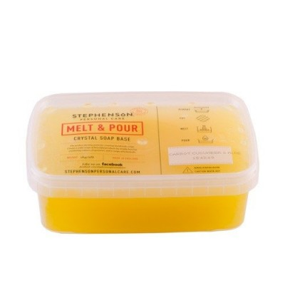 Bază de săpun Melt & Pour cu ulei de morcovi, castraveți și aloe vera - 1000g