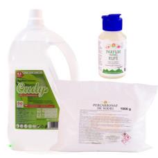 PACHET Detergent lichid hipoalergenic 4,5l -Naturalic & percarbonat de sodiu 1kg-& CADOU parfum de rufe 100ml