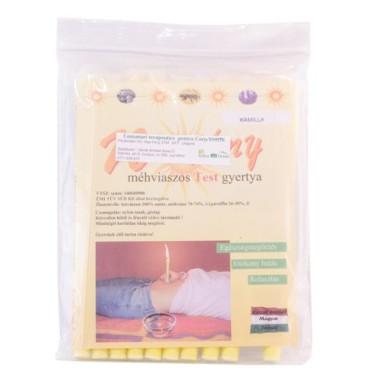 Lumânări terapeutice pentru corp cu ceară naturală de albine 10 bucăţi -Napfény-