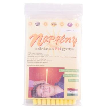 Lumânări terapeutice pentru ureche cu ceară naturală de albine 10 bucăţi -Napfény-