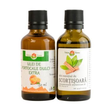 Pachet Ulei esențial  de portocale dulci 50 ml & Scorțișoară 50 ml