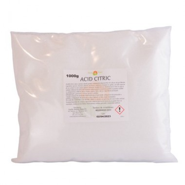 Acid Citric ambalat în pungă la 1 kg
