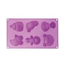 Formă de silicon - Baby Birth - 6 cavități