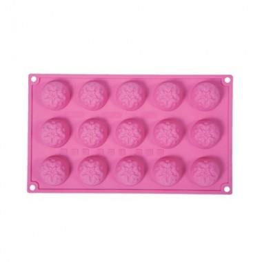 Formă de silicon - Mini Trandafiri - 15 cavități