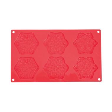 Formă de silicon - Mulaj de zăpadă - 6 cavități