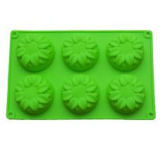 Formă de silicon - Floarea Soarelui - 6 cavități