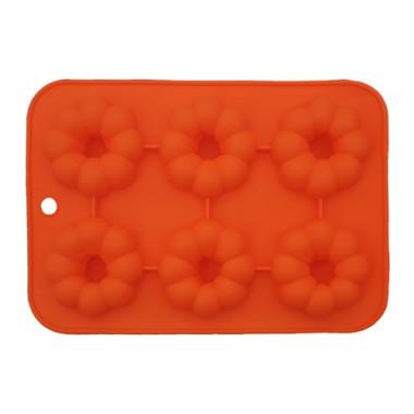 Formă de silicon - Floral tip inel - 6 cavități
