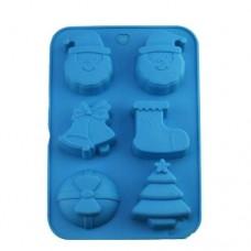Formă de silicon Merry Christmas - 6 cavități