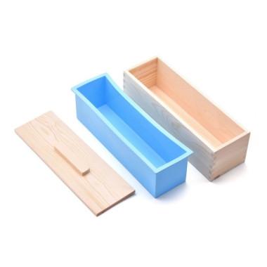 Cutie pentru prepararea săpunurilor cu formă de silicon și capac