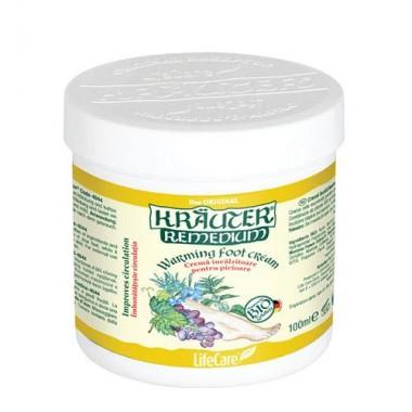 Cremă încălzitoare pentru picioare cu plante BIO Krauter®