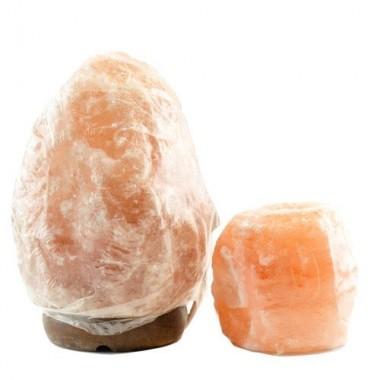 Veioză / lampă de sare HIMALAYA  1-2 kg & candelă de sare - TRANSPORT GRATUIT