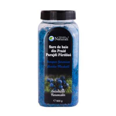 Sare de baie din Praid- Ienupăr & Geranium - 900 g