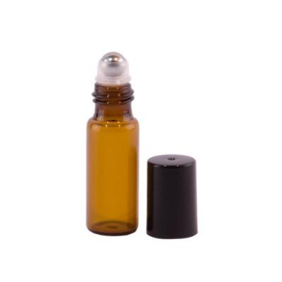 Sticluță Brună cu Roll-on de 5ml rezistent