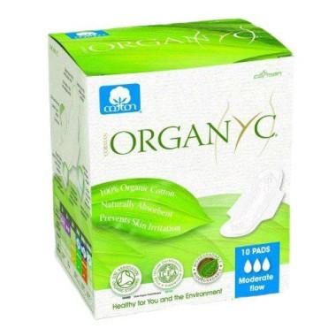 Bio Absorbante intime din bumbac organic pentru zi -10 buc