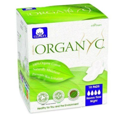 Bio Absorbante intime din bumbac organic pentru noapte -10 buc