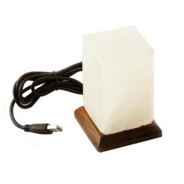 HIMALAYA Veioză / lampă de sare Mini cu USB prisma