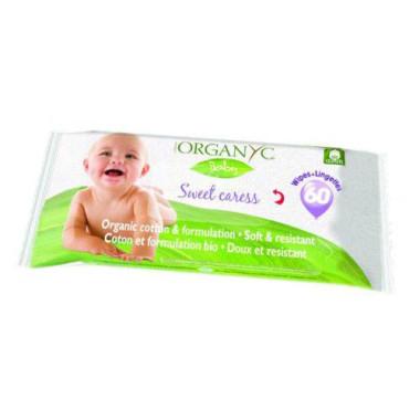 Bio Șervețele umede Organyc Baby - 60 buc