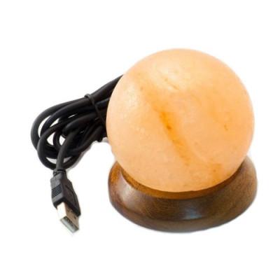 HIMALAYA Veioză / lampă de sare Mini cu USB Glob