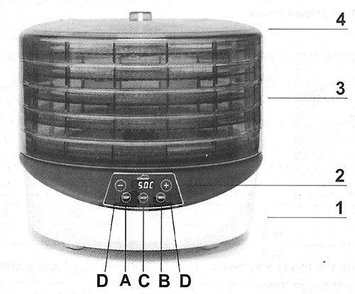 Lista de componente deshidrator